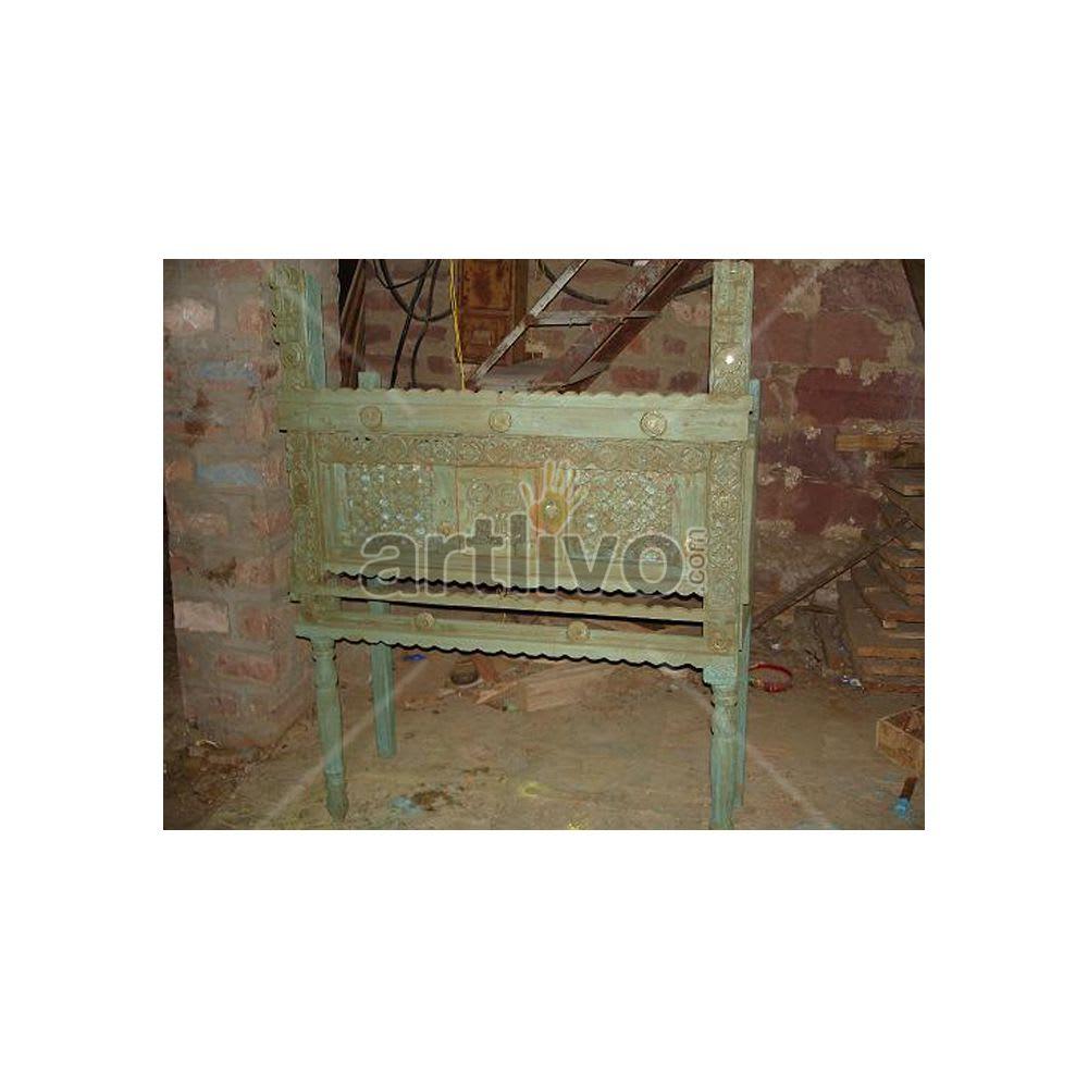 Old Indian Brown Lavish Solid Wood green color design Trunk