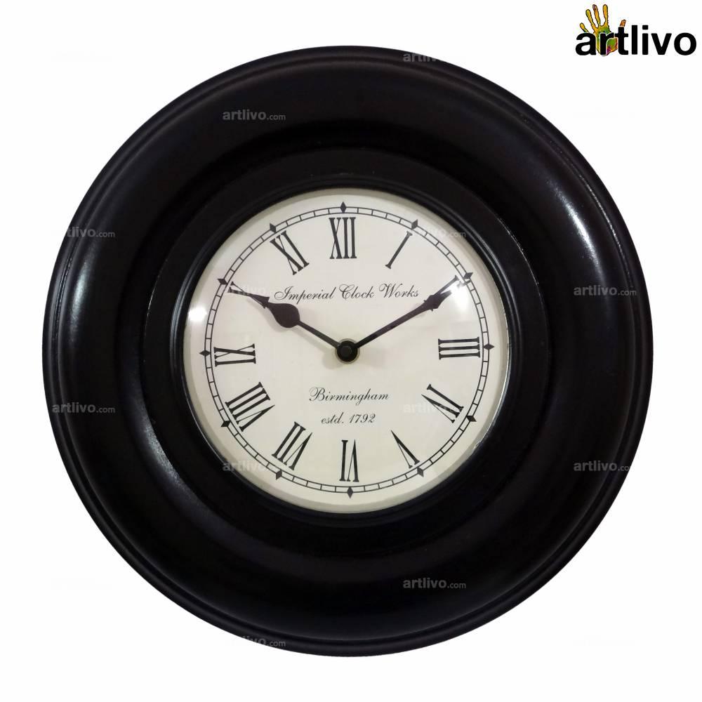 """UBER ELEGANT Dune Round Wall Clock 12"""""""