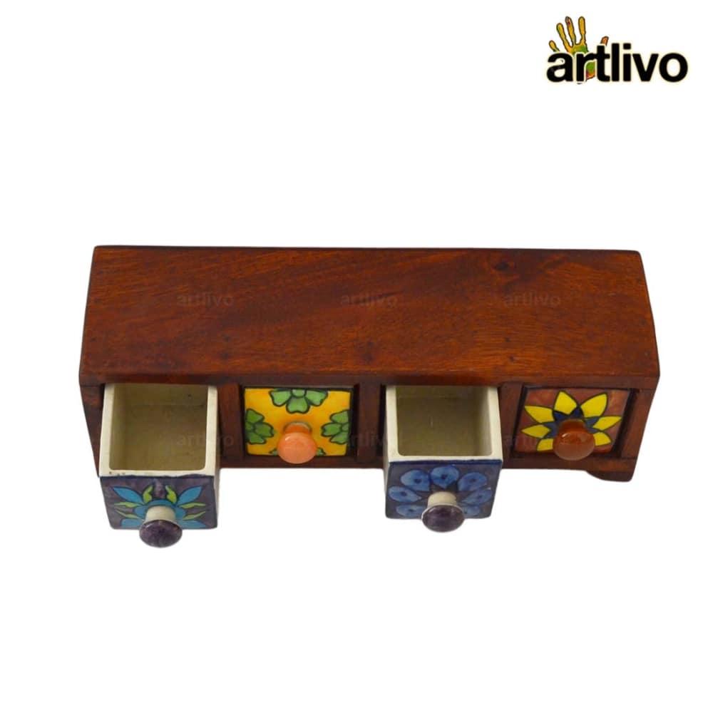 POPART Ceramic 4 Drawer Long Box - BO129