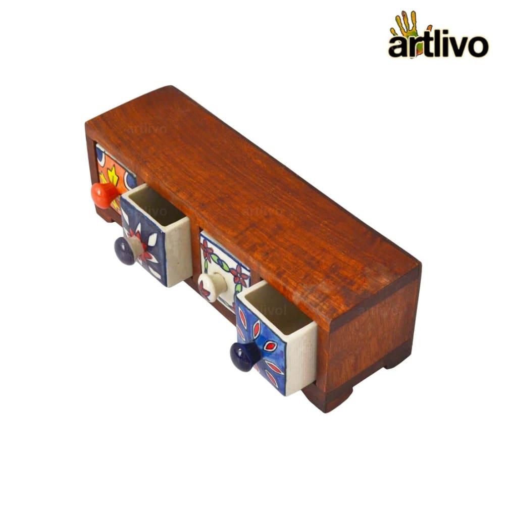 POPART Ceramic 4 Drawer Long Box - BO131