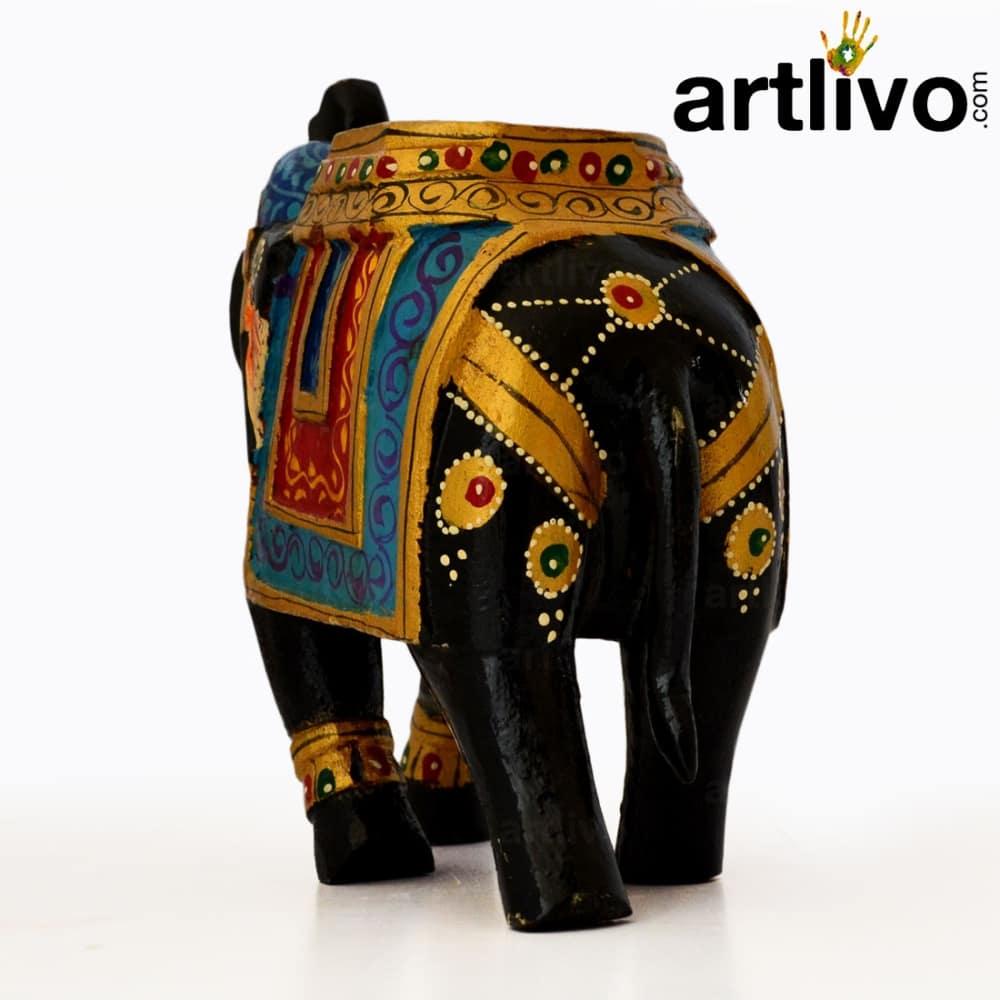 Wooden Elephant Statue - ST090
