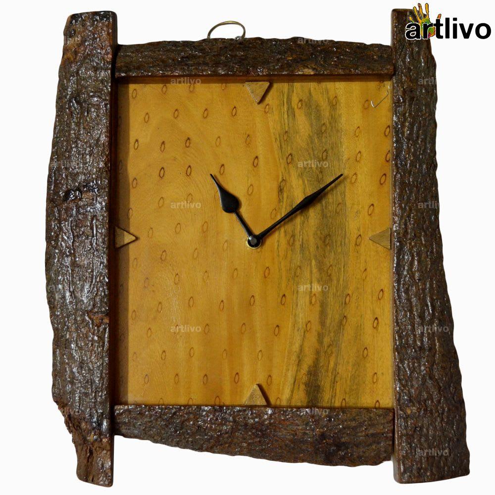 ECOLOG Raw Wood Wall Clock