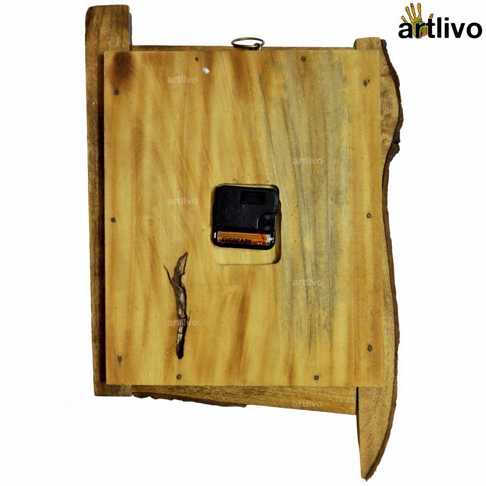 ECOLOG Rustic Wooden Wall Clock - WC050