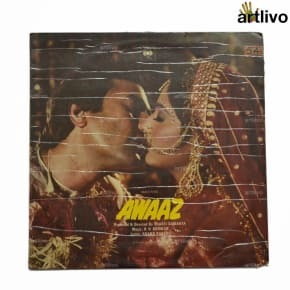 VINTAGE Gramophone Record - Awaaz (With Cover)