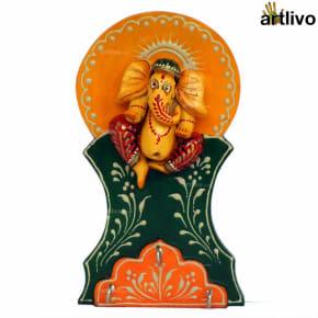EMBOSSED Ganesha Key Hooks