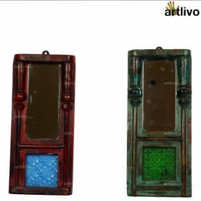 VINTAGE Rustic Colorful Mirrors
