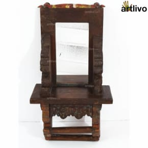 VINTAGE Wooden Carved Wall Mirror