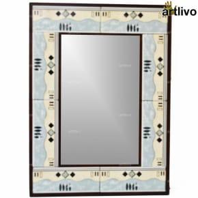 "22"" Decorative Bathroom Wall Hanging Tile Mirror Frame - MR071"