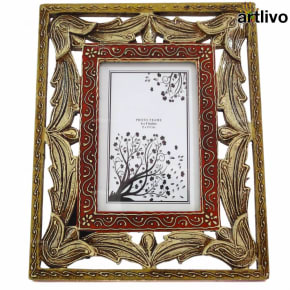EMBOSSED Carved Photo Frame - Ivory