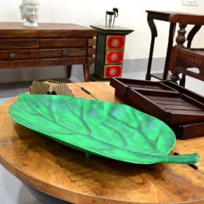 Green Leaf Fruit Tray