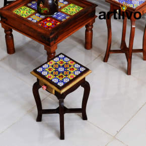 Wooden Tile Stool