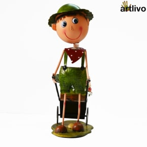 POPART Table Decorative Flower Man Showpiece