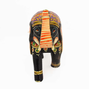 POPART Multicolor Wooden Elephant Statue Table Decor - ST094