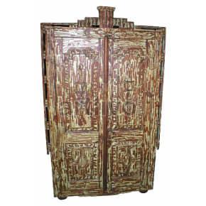 Vintage Indian Beautiful Lavish Solid Wooden Teak Almirah