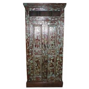 Vintage Indian Beautiful Palatial Solid Wooden Teak Almirah