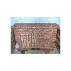 Vintage Indian Beautiful noble Solid Wood Rustic metal design Trunk