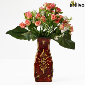 EMBOSSED Sparrow Flower Vase