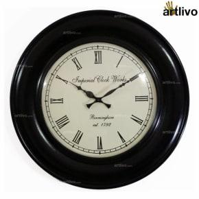 """UBER ELEGANT Dune Round Wall Clock 18"""""""