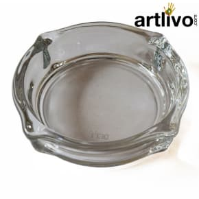 Dia Shaped unique glass ashtray