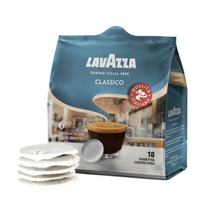 Lavazza Classico package and pods for Senseo
