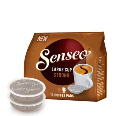 Senseo Strong Large Cup package and pods for Senseo
