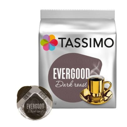 Evergood Dark Roast pakke og kapsel til Tassimo