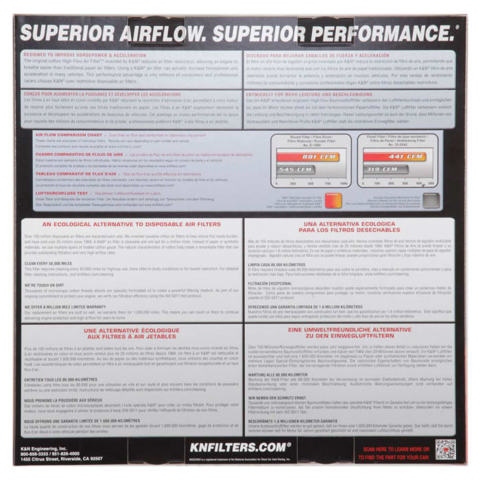 K /& N 33-2449 Replacement Air Filter