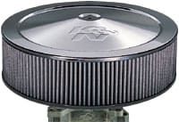 Fourteen Inch Drop Base Air Filters - Chrome