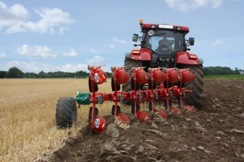 Kverneland Ecomat ploughing the field, economical and time efficient