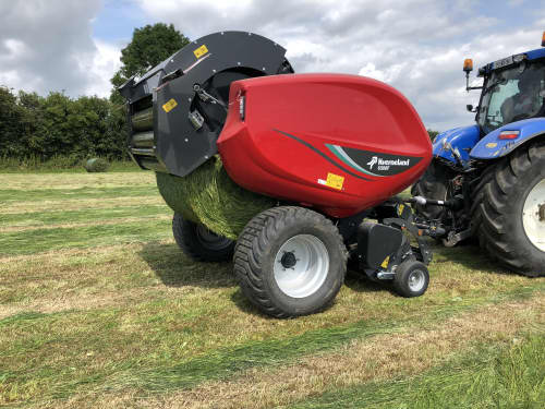 Fixed Chamber Round Balers - Kverneland 6500 F, full roller with high performance for heavy silage conditions
