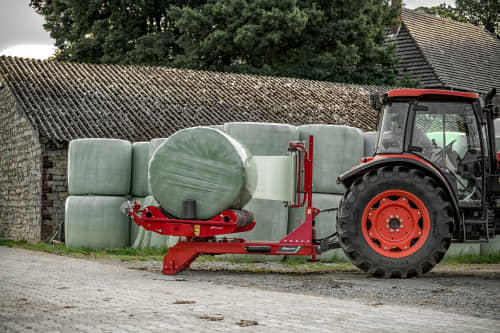 Round Bale Wrappers - Kverneland 7710, three point wrappers and Hydraulic film cutter