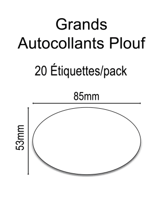 Grands Autocollants Plouf