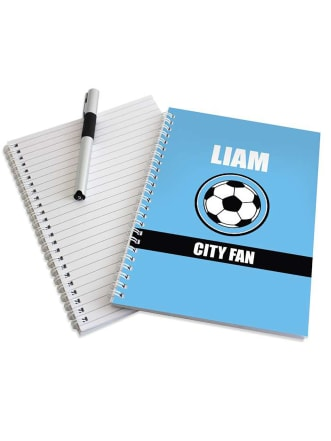Personalised Football Fan Notebook