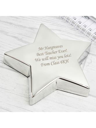 Personalised Star Paperweight