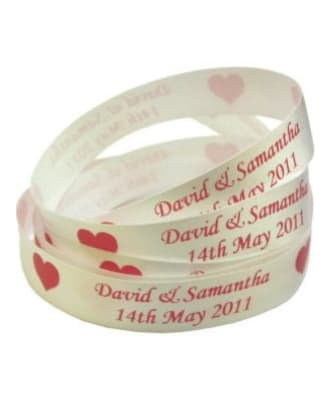 Printed Personalised Satin Ribbon 15mm Wide