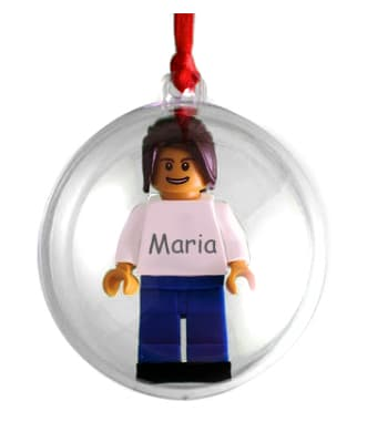 Personalised LEGO® Figure Christmas Bauble