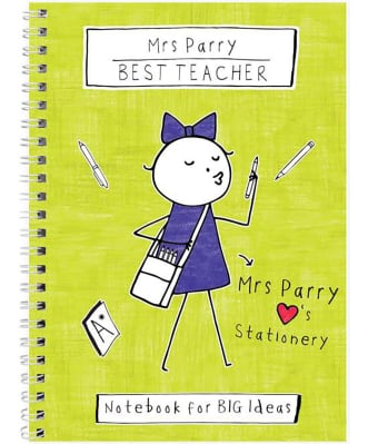 Personalised Purple Ronnie Teacher Notebook