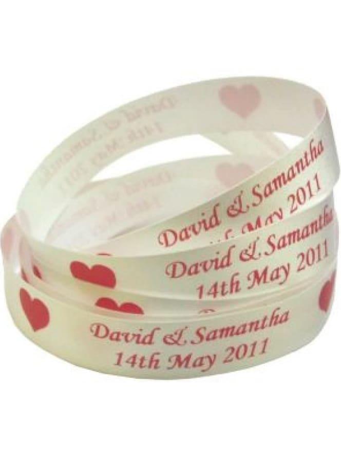 Printed Personalised Satin Ribbon 15mm Wide