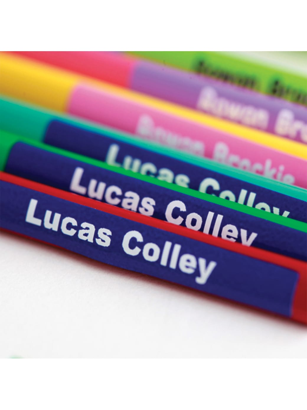 Mini name labels for pencils by labels4kids
