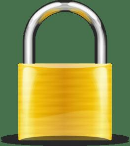 gold padlock cms page