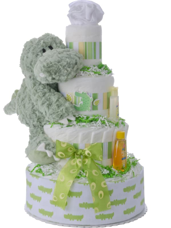 Alan Alligator Diaper Cake for Boys