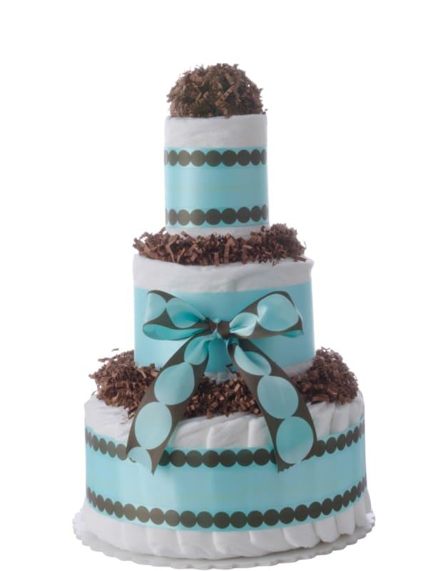 Aqua Dots Baby Boy Diaper Cake
