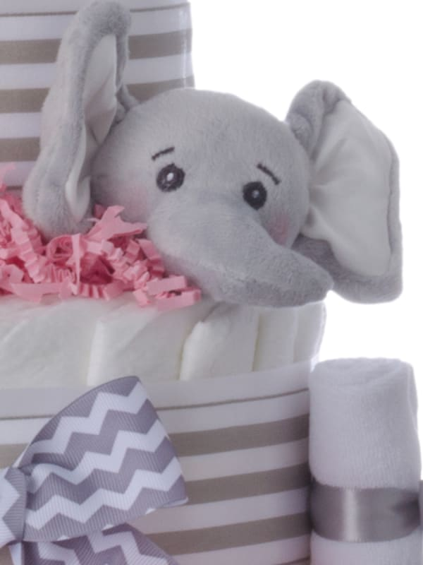 Ultimate Elephant Pampers 5 Tier Cake Pink