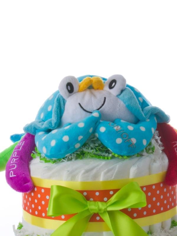 Colorful Crab 2 Tier Diaper Cake