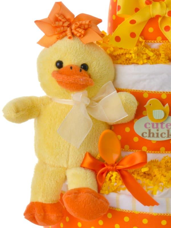Cute Chick Girl Diaper Cake