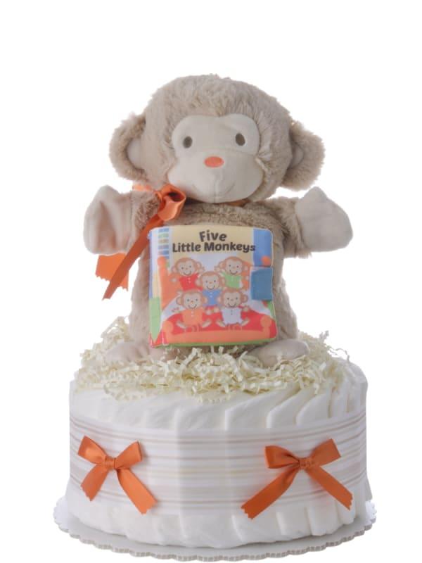 Five Lil' Monkeys Neutral Baby Diaper Cake