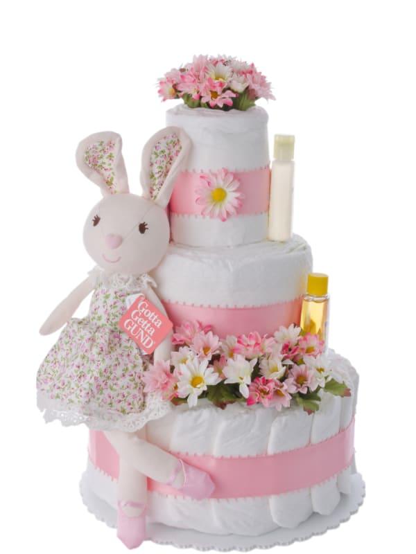 Isabella Rabbit Baby Diaper Cake