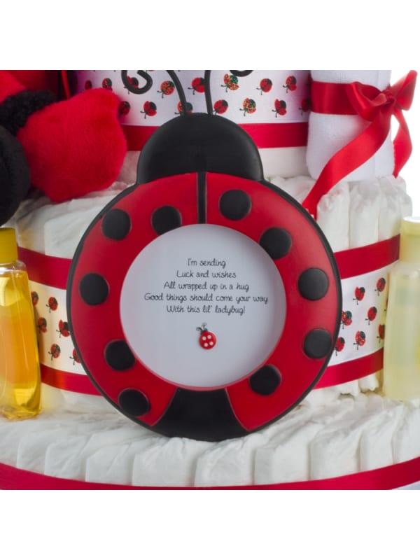 Lil' Ladybug Diaper Cake