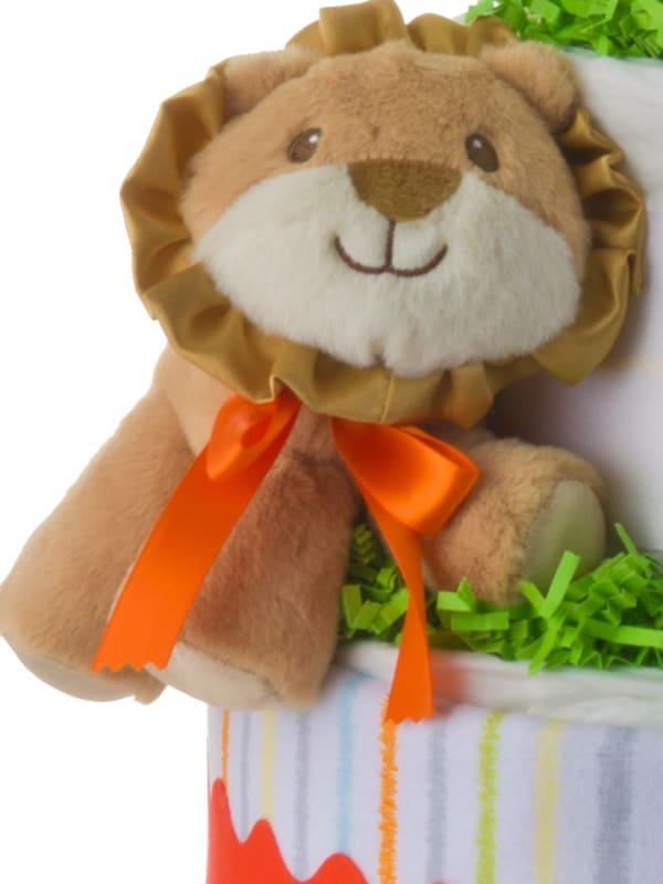 Lil' Lion Gender Neutral Diaper Cake