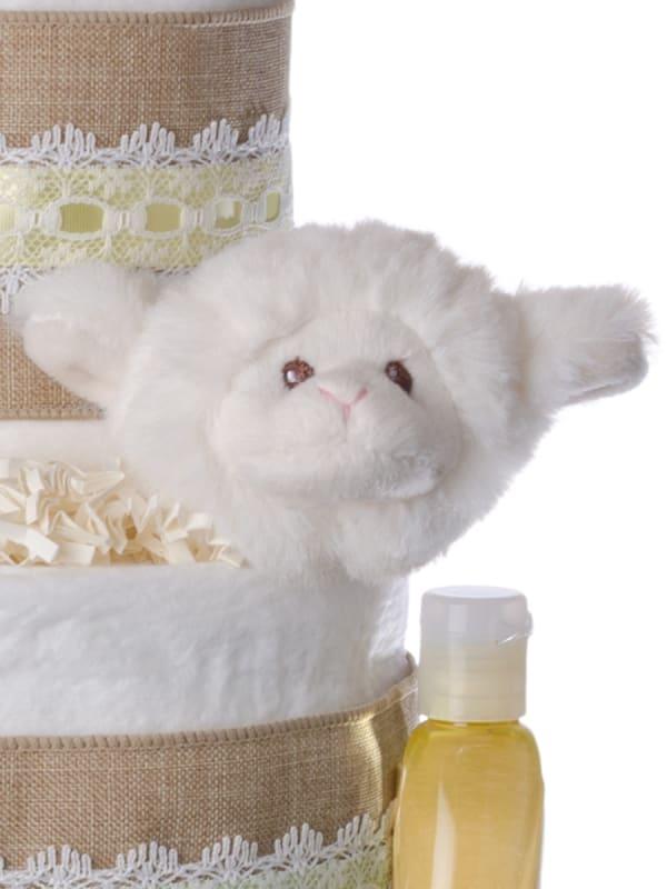 Lil' Baby Cakes Lamb Diaper Cake